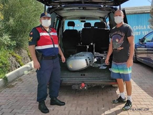 Milli Sörfçü Çağla Kubat'ın Çalınan Tekne Motorunu Jandarma Buldu